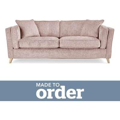 Arabella 3 Seater Sofa Luxury Chenille Premium Chenille Rosewood