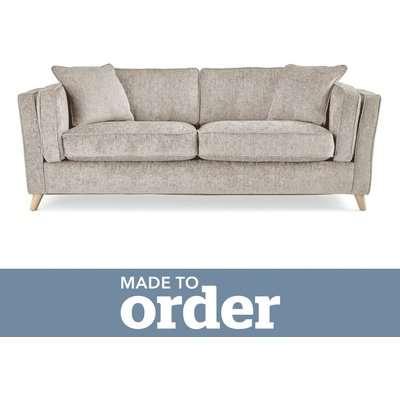 Arabella 3 Seater Sofa Luxury Chenille Premium Chenille Sand