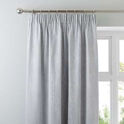 Arden Silver Thermal Pencil Pleat Curtains Silver