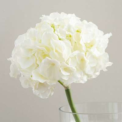 Artificial Hydrangea Cream Single Stem 52cm Cream (Natural)