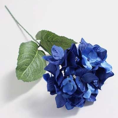Artificial Hydrangea Blue Single Stem 79cm Blue
