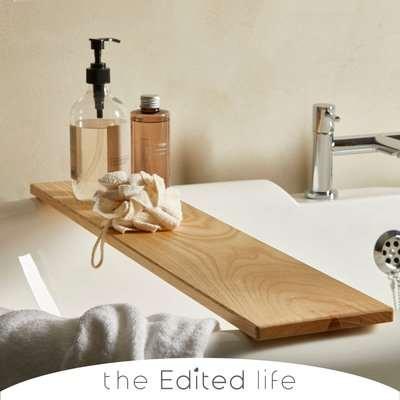 Ash Wood Bath Rack Brown