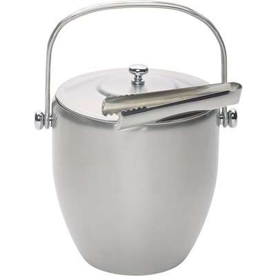 BarCraft Stainless Steel Ice Bucket Silver