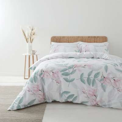 Bianca Anise 400 Thread Count 100% Cotton Sateen Blush Duvet Cover and Pillowcase Set Blush (Pink)