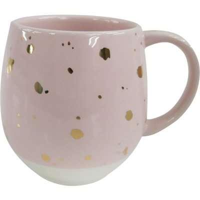 Pink Speckled Gold Mug Pink and Gold