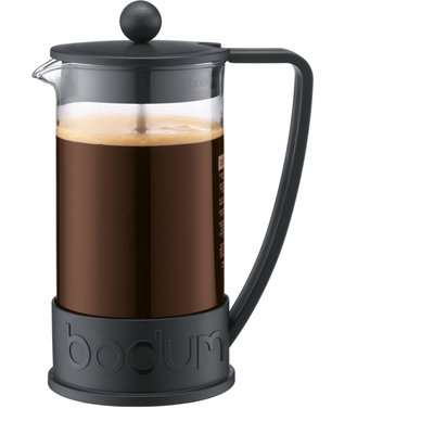 Bodum Brazil Black 8 Cup Coffee Maker Caffettiera Black