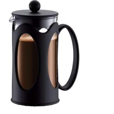 Bodum Kenya Black 3 Cup Coffee Maker Caffettiera Black
