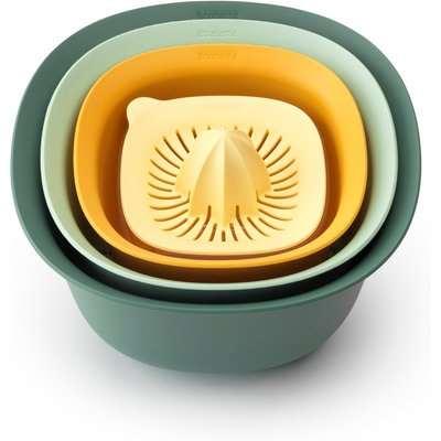 Brabantia Tasty+ Mixing Bowl Set Green and Yellow