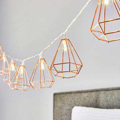 Bremen 10 Light Copper String Lights Copper