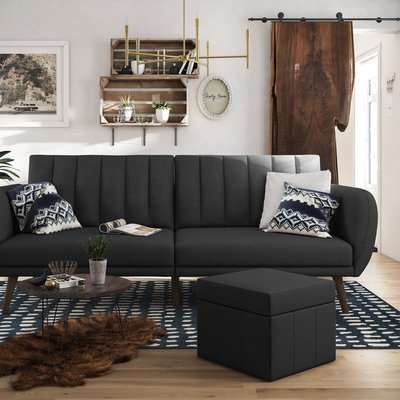 Brittany Linen Sofa Bed Grey