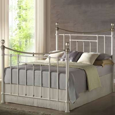 Bronte Bed Frame Cream