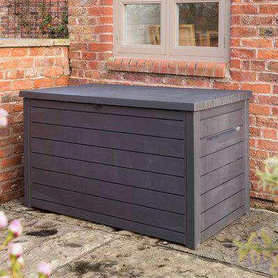 Grey Deck Outdoor Storage Box Grey