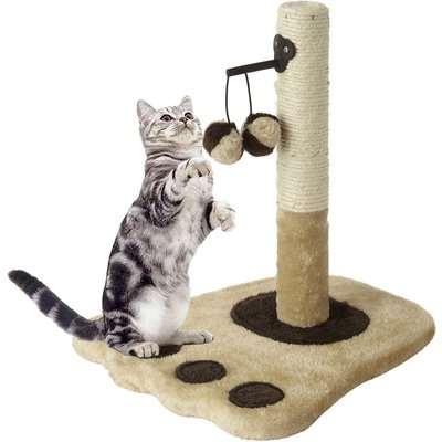 Bunty Cream Cat Scratching Post Brown