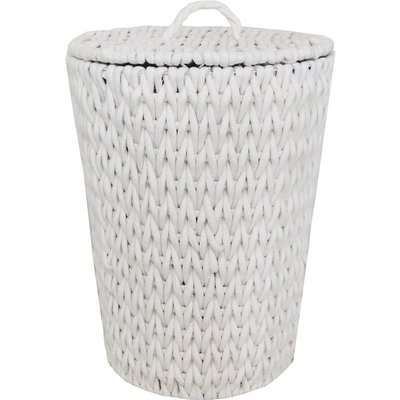 Cable Knit Laundry Basket Cream