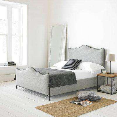 Cameo Fabric Bed Frame Light Grey