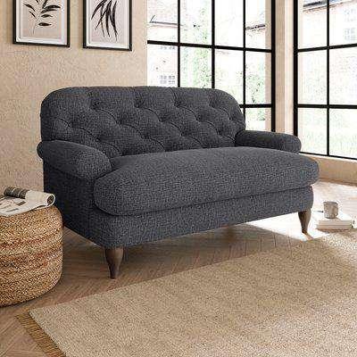 Canterbury Slub Cotton Snuggle Chair Slub Cotton Black