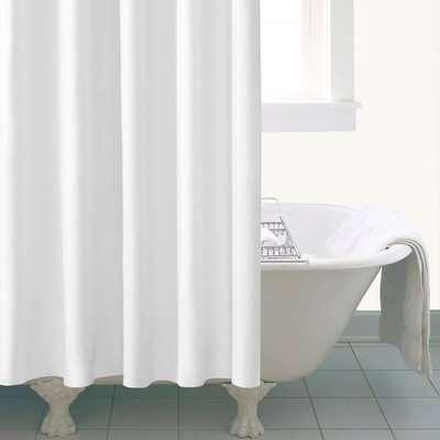 Ceramic Extra Long White Shower Curtain White