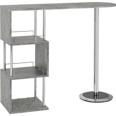 Charisma Bar Table Concrete Effect Grey