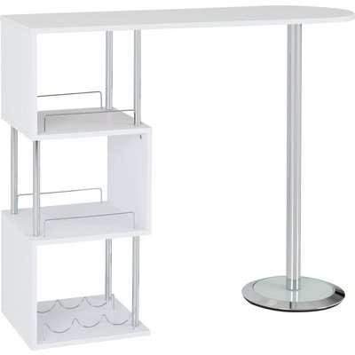 Charisma Bar Table White White