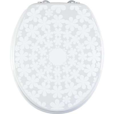 Cirque de Fleur Toilet Seat Grey and White