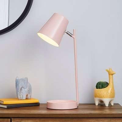 Cisco Modern Trinket Tray Task Lamp Pink