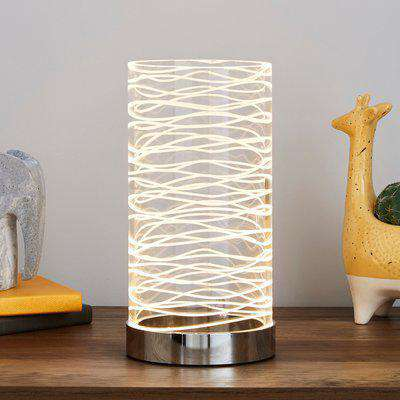 Clee Etched Table Lamp Clear
