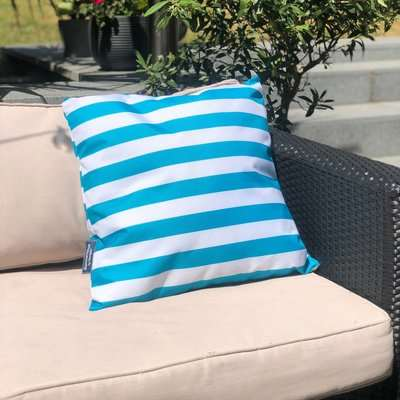 Coast Blue Water Resistant Outdoor Cushion Blue and White