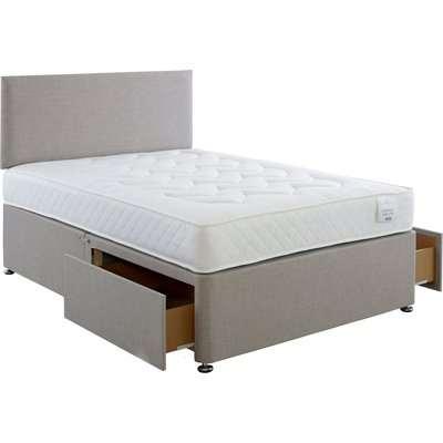 Comfort Divan Bed with Mattress Grey