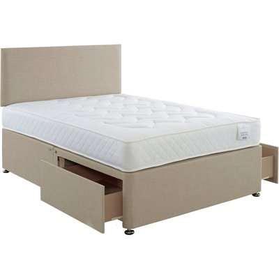 Comfort Divan Bed with Mattress Natural