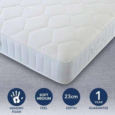 Comfort Master Soft Medium Memory Mattress White