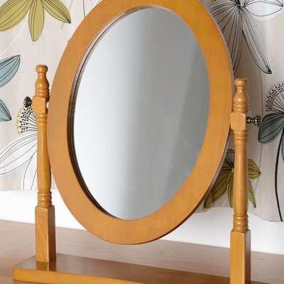 Contessa Natural Dressing Table Mirror Brown