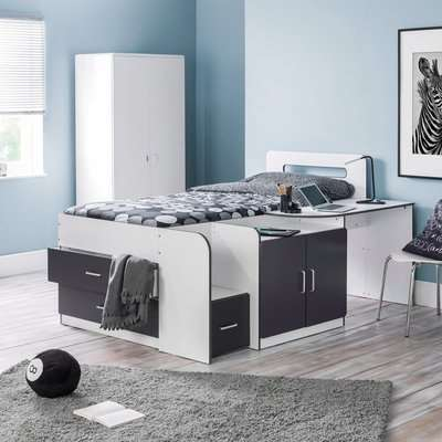 Cookie White and Grey Cabin Bed Grey/White