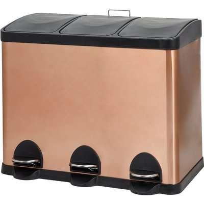 Copper 45L Recycling Bin Brown