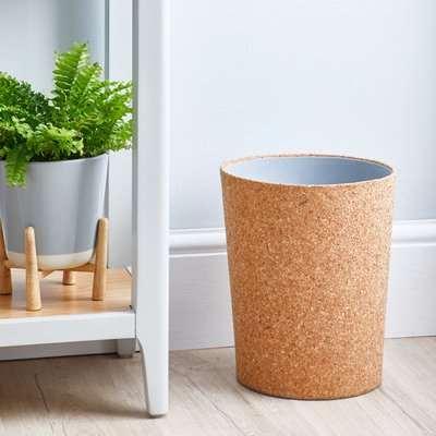 Cork Waste Paper Bin Natural