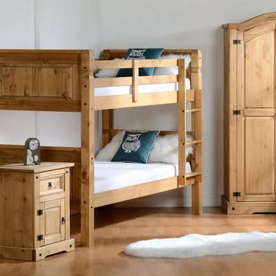 Corona Pine Bunk Bed Brown