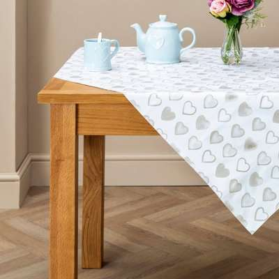 Country Heart PVC Tablecloth Cream