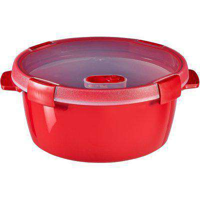 Curver Microwave Steamer 1.6L Round Red