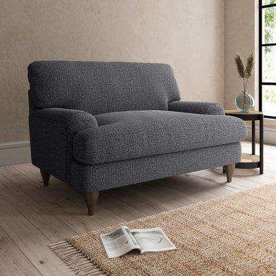 Darwin Slub Cotton Snuggle Chair Slub Cotton Black