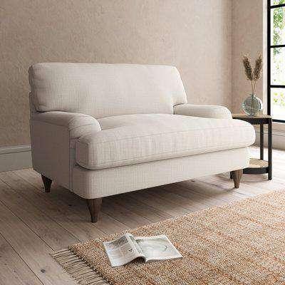Darwin Slub Cotton Snuggle Chair Slub Cotton Sandstone