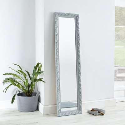 Decorative Leaner Mirror 166x45cm Grey Grey