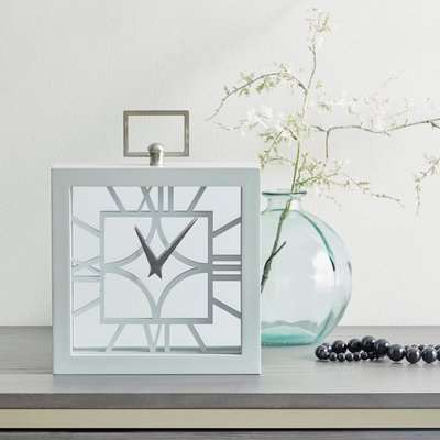 Delphi Mantle Clock Grey
