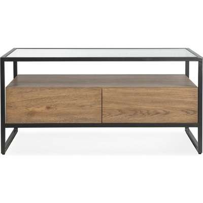 Dillon Coffee Table Oak Brown and Grey