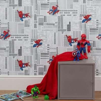 Disney Marvel Spider-Man Framed Wall Art Black, Blue and Red