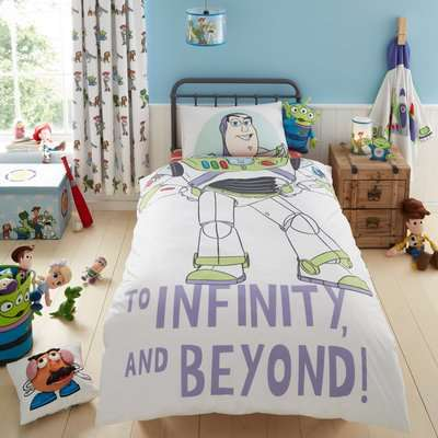 Disney Toy Story Character Reversible Single Duvet Cover and Pillowcase Set White