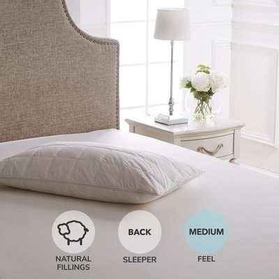 Dorma Down Surround Memory Foam Medium-Support Pillow White