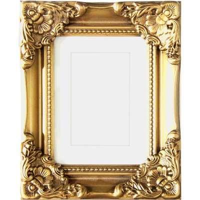 "Gold Dorma Swept Photo Frame 7"" x 5"" (18cm x 12cm) Gold"