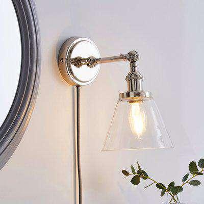Dorma Purity Nickson EasyFit Plug-In Wall Light Chrome
