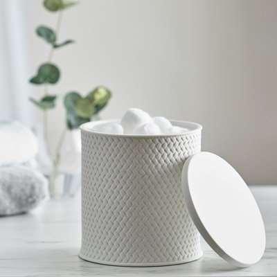 Dorma Purity Porcelain Large White Storage Trinket Box White