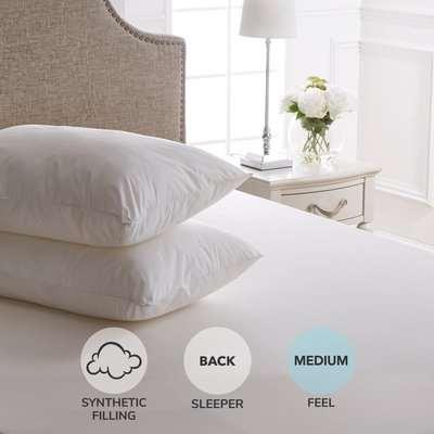 Dorma Sumptuous Down Like Soft Pillow Pair White