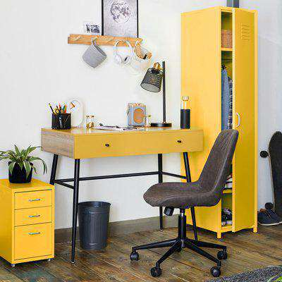 3 Drawer Filing Cabinet Ochre